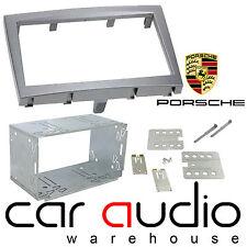 Autoradio Stéréo Double Din Fascia Panel argent pour Porsche Cayman 2005-2011