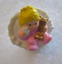 Fisher Price Little People BABY GIRL INFANT Stuffed Teddy Bear Toy for HOUSE