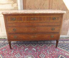 Como' con piano scrittoio scrivania epoca '900 intarsiato, piano in marmo