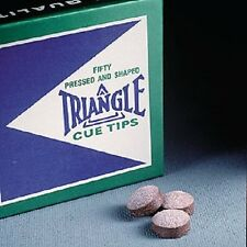 Triangle Pool Cue Tips 14mm Quantity 50 Tip Box