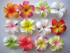 Set of 20 ~Hawaiian Hawaii Bridal Wedding Party Plumeria Foam Flower Hair Clips