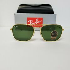 Ray-Ban Caravan RB3136 Gold Frame / Green Classic G-15 Lens 58mm Sunglasses