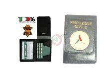 Portafoglio Portadocumenti con Placca Fissa Protezione Civile Nazionale Italia
