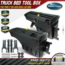 2x Lockable Storage Truck Bed ToolBox Rear Left & Right for Ford F-150 2015-2019