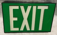 Vintage New In The Box Green Universal Exit Sign By Marco—NOS—FREE SHIPPING!