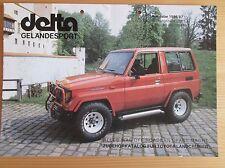 TOYOTA Land Cruiser Delta Geländesport Zubehörkatalog, Ausgabe 1986/87