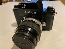 Nikon F Black Paint Photomic 35mm Slr Film Camera Body and 2 lenses, 1 filter