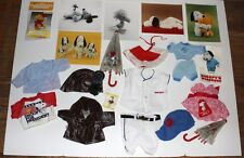 Peanuts Gang Snoopy vintage plush doll clothing lot and advertising photos etc