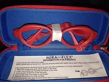 New Mira Flex MiraFlex Baby One Frames Color IP Red With Strap Age 1-3  37/14