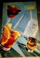 Vintage Drink List Menu Childs Restaurant Fifth Ave New York 1944 Colorful