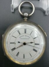 English Wolverhampton Center Seconds Chronograph Fusee Pocket Watch D Tumpowsky
