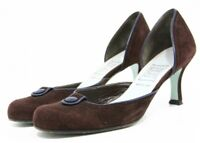 Cynthia Rowley Dress shoes Womens size 7.5 Italian suede Leather Pumps Heels