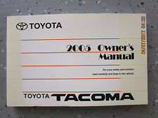 2005 - 05 TOYOTA TACOMA USER OWNER MANUAL HANDBOOK GUIDE INFORMATION BOOK