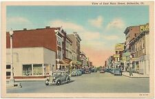 View of East Main Street in Belleville IL Postcard 1947