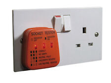 UK Mains Socket Tester 240V Test Plug In Socket Safe Fault Earth Live Neutral