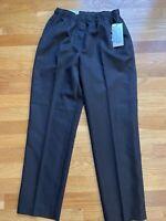 NEW Alia Petite Black Polyester Microfiber Pants Women Size 4P Elastic Waist