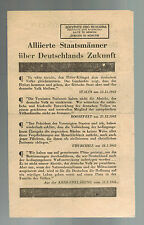 Original USA WW 2 Surrender Leaflet Dropped on German Troops Party Bigwigs