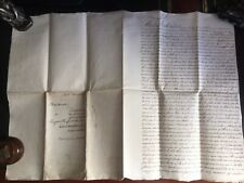 Antique English Vellum Indenture 1807 With Watermarks , Stamps And A Seal