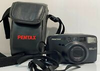 Pentax IQZoom 140 Date Point-n-Shoot 35mm Camera - AS IS. with Case. Untested