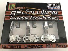 GENUINE KLUSON  REVOLUTION KED-3801C G MOUNT 3 X 3 TUNERS CHROME