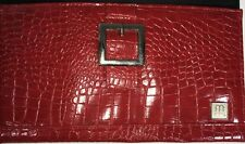 Classic Miche Shell, Red with Reptile Texture, Silver Tone Buckle Decoration NEW