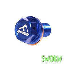 Apico Magnetic Sump Drain Bolt Yamaha YZ 125 05-19 YZF WRF 250 450 01-19 Billet