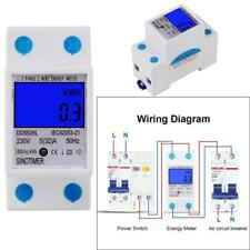 50Hz 5(32)A 230V Electricity Power Energy Meter Single Phase DIN Rail Backlights