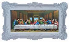 Image Sainte avec Cadre Tableau Jésus 12 Apôtre Cène Icônes Blanc 96x57 CM