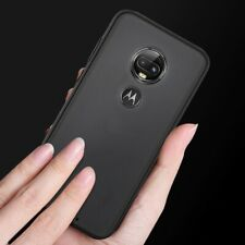 For Motorola Moto G7+ Plus / T-Mobile Revvlry Plus - Black TPU Rubber Case Cover