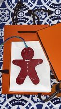HERMES ACCESSORY LEATHER CHARM PETIT H CUTE Gingerbread