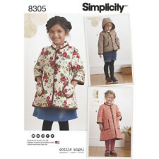 Simplicity Pattern 8305 Child's Coat and Jacket for pre-quilted fabrics