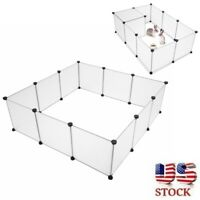 Pet Playpen Portable Yard Fence Exercise Barrier Play Pen Kennel Crate Fence