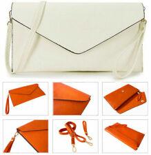 Borse e borsette da donna pochette bianca in pelle