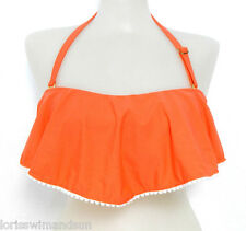 Raisins Junior D-Cup Shayla Solid Coral Underwire Bikini Swimsuit TOP NWT