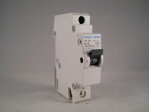 Hager MCB 16 Amp Single Pole Circuit Breaker Type B 16A B16 450116 MT116