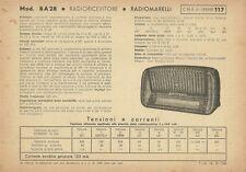 Radioricevitore Radiomarelli Mod. 8 A28 Radio Industria Milano 1944