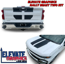 Fits Chevy Silverado Rally Beast Two Graphics Vinyl Stripes 3M Decals 2019-2021