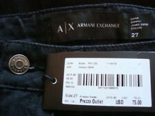 NWT$75 A/X ARMANI EXCHANGE Super Skinny Ankle Leg Black Jeans Sz 27