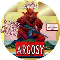 ARGOSY MAGAZINE - 37 VINTAGE ISSUES - PDF FILES ON CD - FICTION STORIES