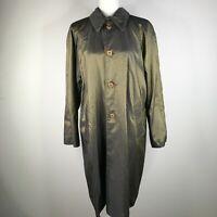 Mycra Pac One Raincoat Womens 1 S Green Long Length Snakeskin Reversible Collar