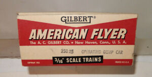 American Flyer Very Rare 25025 Op. Coal Dump Car Close To New Original Box Only