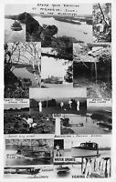 Real Photo Postcard Multiple Views Mississippi River in McGregor, Iowa~110953