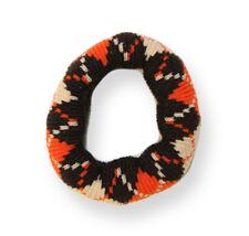 Mia Thick Argyle Ponytailer, Hair Tie, Hair Accessory, Italian Wool Brown,Orang