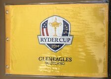 "2014 RYDER CUP GOLF PIN FLAG Gleneagles Scotland 20 X 14"" Screen Printed"