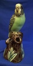 More details for quail green budgerigar budgie bud vase - tropical bird figure model ornament