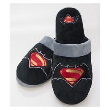 Para Hombre Chicos Batman Superman Mula Pantuflas Suela Antideslizante Reino Unido 5-7 Negro Anti Adulto
