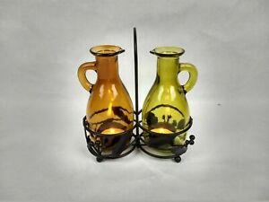 Yankee Candle Oil and Vinegar Cruet Set Tea Light Metal Holder