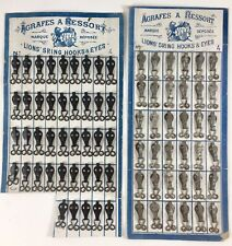 Mercerie XIXem, plaques d'agrafes à ressort GJ&F Lions Stinghooks & eyes couture