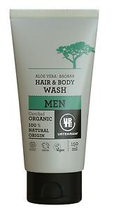 URTEKRAM ORGANIC ALEO & BAOBAB MEN HAIR & BODY WASH 150ml - VEGAN