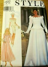 STYLE Sewing Pattern no. 2602 LADIES WEDDING DRESS size 8-18  UNCUT